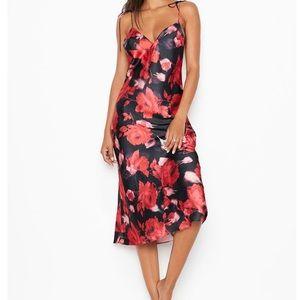 Victoria Secret Satin Jacquard midi dress size XL